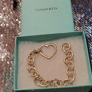 Tiffany & Co Vintage Heart Clasp Bracelet